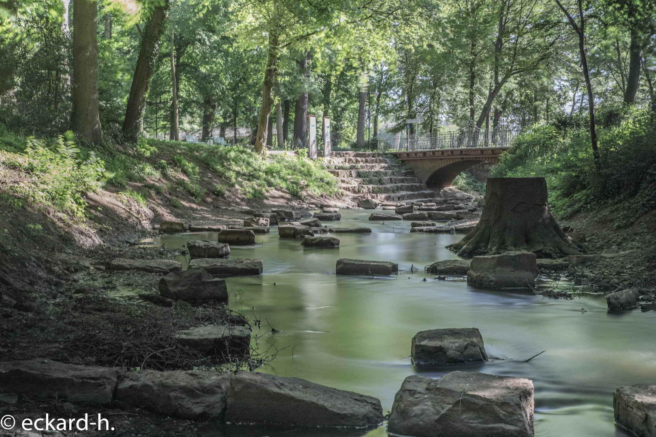 Die Bastau im Weserglacis